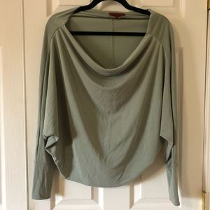 BKE Cropped Drapped Green Top Small